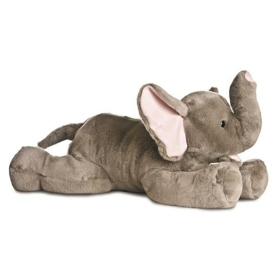 Safaridieren knuffels olifant grijs 70 cm