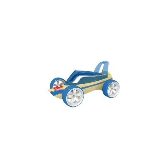 Speelgoedvoertuigen blauwe bamboe Roadster raceautos