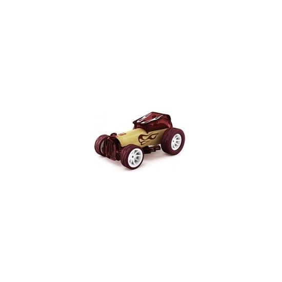 Speelgoedvoertuigen bordeaux bamboe raceauto 8 cm