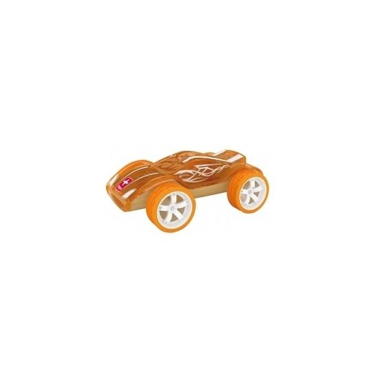 Speelgoedvoertuigen oranje bamboe raceautos 8 cm