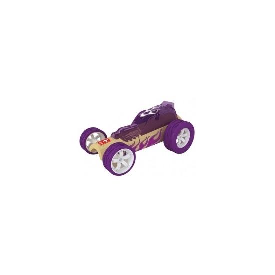 Speelgoedvoertuigen paarse bamboe raceauto 8 cm
