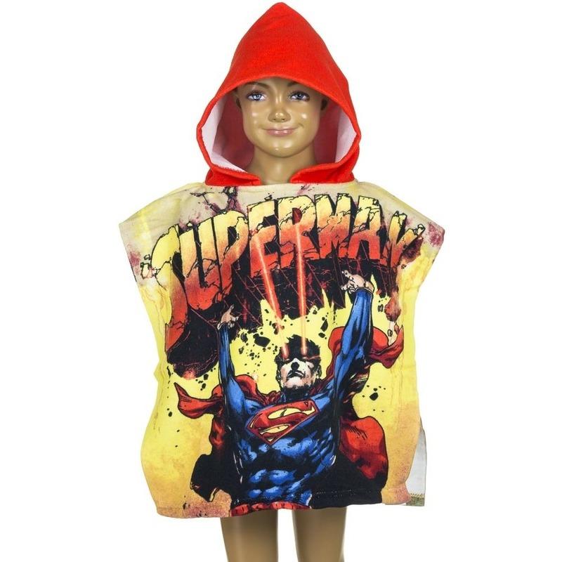 Superman kinderponcho met rode capuchon