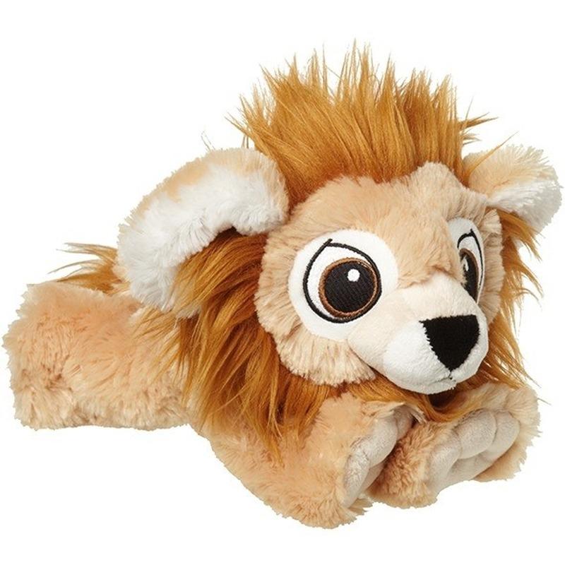 Wilde dieren knuffels leeuw bruin 38 cm
