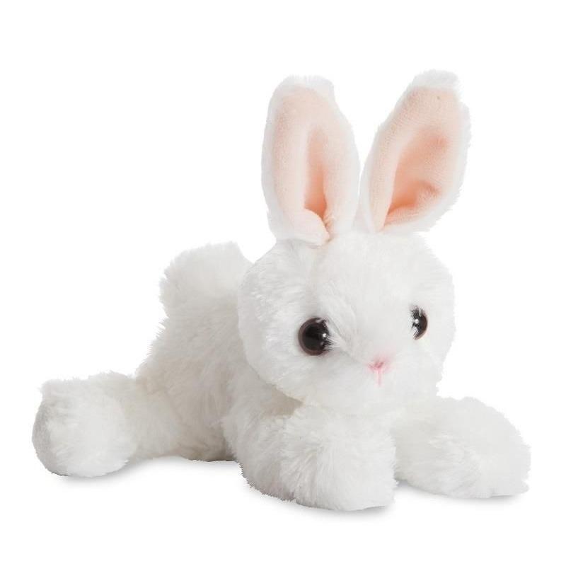 Witte bosdieren knuffels konijn 20 cm