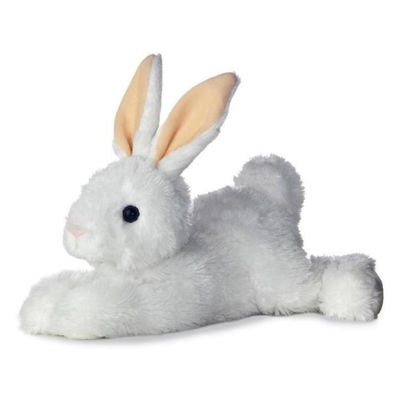 Witte bosdieren knuffels konijn 30 cm