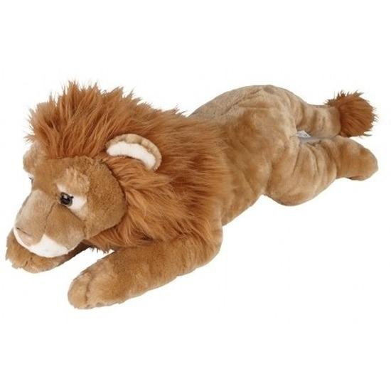 XL Dieren knuffels leeuw bruin 60 cm